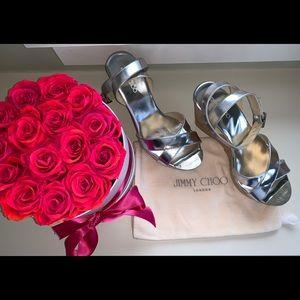 Jimmy Choo Shoes - Jimmy Choo silver mirror wedge